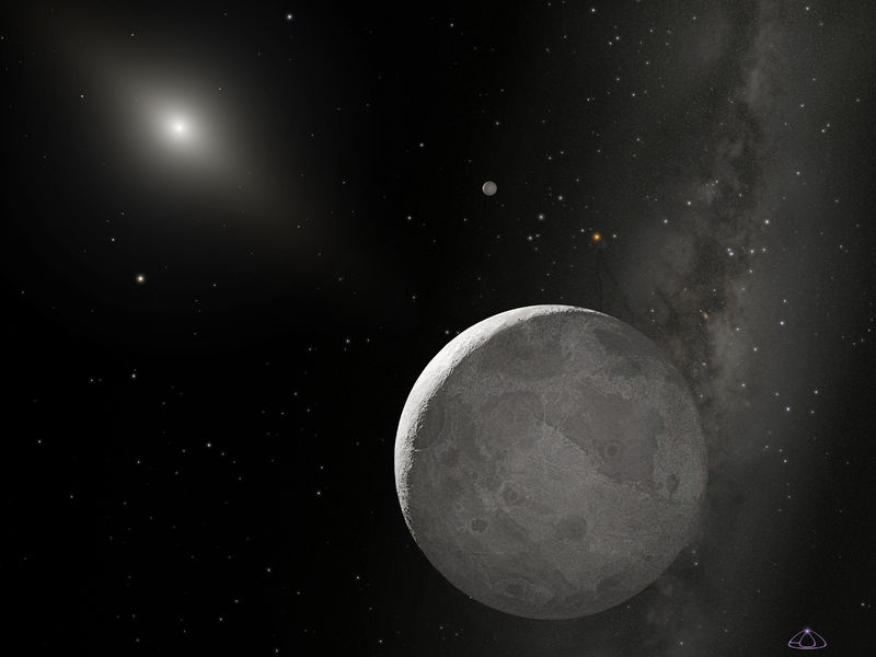 Eris is more massive than Pluto but not as big